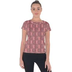 Flowers Pattern Short Sleeve Sports Top  by Sparkle