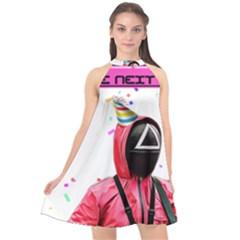Squid Game Birthday Halter Neckline Chiffon Dress