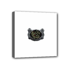 Rock-n-Roll-For-Life-Tattoo-Belt-Buckle Mini Canvas 4  x 4  (Stretched)