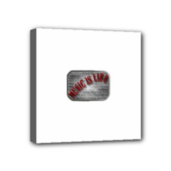 Music-Is-Life-Belt-Buckle Mini Canvas 4  x 4  (Stretched)