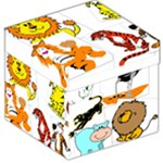 Kids Stool Box Storage Stool 12