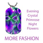 Fashion Evening Crystal Primrose, Abstract Night Flowers