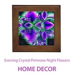 Home Decor Evening Crystal Primrose, Abstract Night Flowers