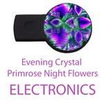Electronics Evening Crystal Primrose, Abstract Night Flowers