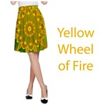 Wheel of Fire Mandala, Yellow Green