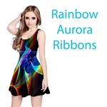Aurora Ribbons, Abstract Rainbow Veils