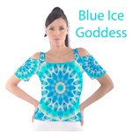 Blue Ice Goddess, Abstract Crystals of Love