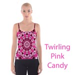 Twirling Pink, Abstract Candy Lace Jewels Mandala