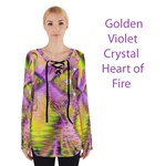 Golden Violet Crystal Heart of Fire, Abstract
