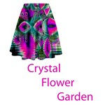 Crystal Flower Garden, Abstract Teal Violet