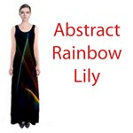Abstract Rainbow Lily, Colorful Mystical Flower