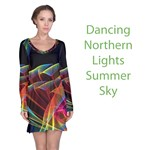 Dancing Northern Lights, Abstract Summer Sky