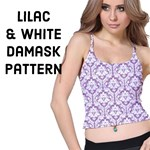 Purple Lilac Damask pattern