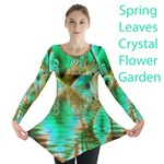Spring Leaves, Abstract Crystal Flower Garden