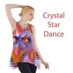 Crystal Star Dance, Abstract Purple Orange