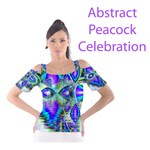 Abstract Peacock Celebration, Golden Violet Teal