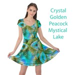 Crystal Gold Peacock, Abstract Mystical Lake