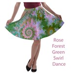 Rose Forest Green, Abstract Swirl Dance