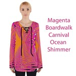 Magenta Boardwalk Carnival, Abstract Ocean Shimmer