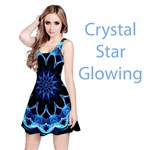 Crystal Star, Abstract Glowing Blue Mandala