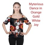 Mysterious Dance in Orange, Gold, White in Joy