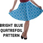 Bright Blue Quatrefoil Pattern