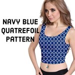 Navy Blue Quatrefoil Pattern