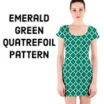 Emerald green Quatrefoil