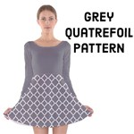 Grey Quatrefoil pattern