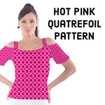 Hot Pink Quatrefoil Pattern