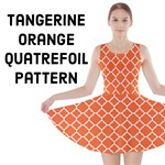 Tangerine Orange Quatrefoil Pattern