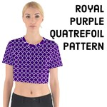 Royal Purple Quatrefoil Pattern
