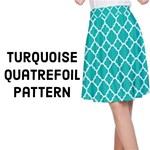 Turquoise Quatrefoil pattern