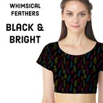 Whimsical Feather Pattern, Black & Bright
