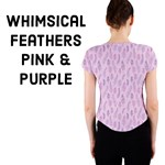 Whimsical Feather Pattern, pink & purple,