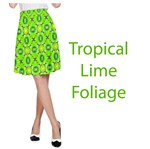 Vibrant Abstract Tropical Lime Foliage Lattice