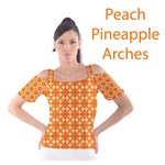 Peach Pineapple Abstract Circles Arches