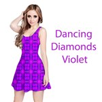 Abstract Dancing Diamonds Purple Violet