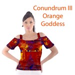 Conundrum III, Abstract Purple & Orange Goddess