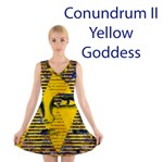 Conundrum II, Abstract Golden Sapphire Goddess