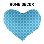 Home Decor - Bright Blue Quatrefoil