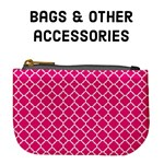 Bags & other accessories - Hot Pink quatrefoil