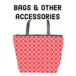 Bags & other accessories - Poppy Red quatrefoil