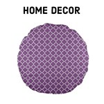 Home Decor - Lilac Purple Quatrefoil