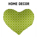 Home Decor - Spring Green Quatrefoil