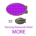 More Abstract Dancing Diamonds Purple Violet