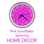 Home Decor Pink Snowflakes Spinning in Winter