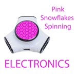 Electronics Pink Snowflakes Spinning in Winter
