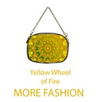 Fashion Wheel of Fire Mandala, Yellow Green