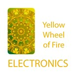 Electronics Wheel of Fire Mandala, Yellow Green